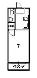 吉田ビル[302号室]の間取り