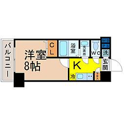 愛知県名古屋市中区松原2の賃貸マンションの間取り