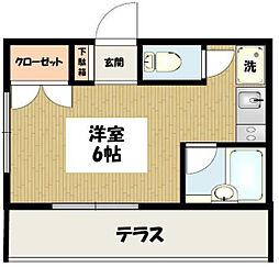 東京都目黒区南2丁目の賃貸マンションの間取り