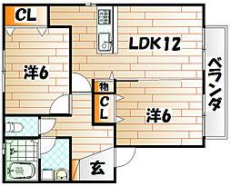 フローラハイム[2階]の間取り