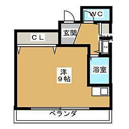 ブロケードハウス[3階]の間取り