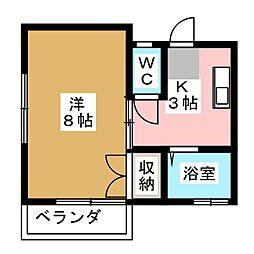 ハイツ富士II[1階]の間取り