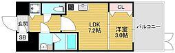 Osaka Metro千日前線 北巽駅 徒歩11分の賃貸マンション 1階1LDKの間取り