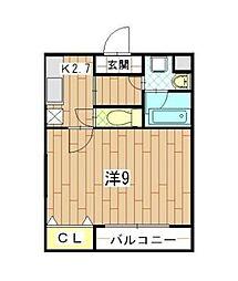 シャルマン(池辺町)[2階]の間取り