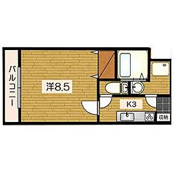 K−フィールド[1階]の間取り