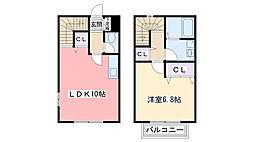 リースランド富士見2 B棟[107号室]の間取り