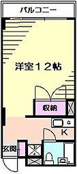 ウッディBOX[3階]の間取り
