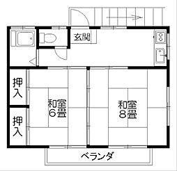岡田ハイツ2[3-2号室]の間取り