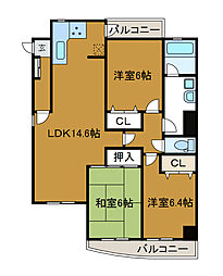 神奈川県川崎市麻生区万福寺6丁目の賃貸マンションの間取り