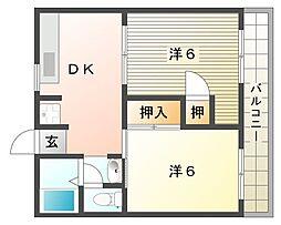 エムロード上神田[3階]の間取り