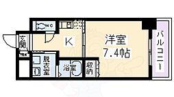 エイペックス四天王寺2 2階1Kの間取り