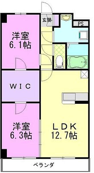 プラスペリティ[2階]の間取り