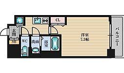 Luxe新大阪5 8階1Kの間取り