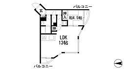 兵庫県西宮市上大市3丁目の賃貸マンションの間取り