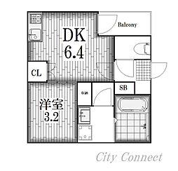 シアヴィータ名古屋[3階]の間取り