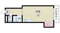 カサボニータ[202号室]の間取り