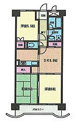 宮城県仙台市泉区市名坂字町の賃貸マンションの間取り