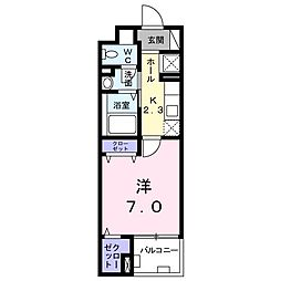 カームシティYASUDA III[0302号室]の間取り