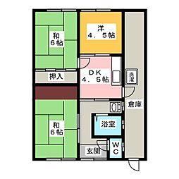 [一戸建] 岐阜県大垣市内原2丁目 の賃貸【/】の間取り