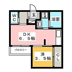 スマイラックス博多駅東[1階]の間取り