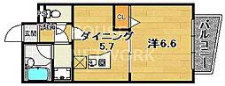 エスリード京都河原町[1004号室号室]の間取り