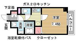 兵庫県神戸市兵庫区兵庫本町1丁目の賃貸マンションの間取り