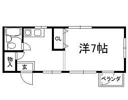 シェモワキタガワ[309号室]の間取り