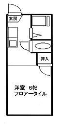 (HE)シャンブルスリーナイン[2階]の間取り