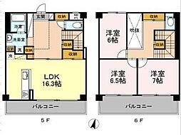 MOE MUSASHIKOSUGI 5階3LDKの間取り