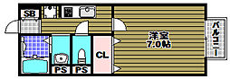 セジュール須田[2階]の間取り