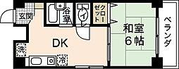 広島県広島市中区平野町の賃貸マンションの間取り