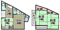 松浪アパート[1号室]の間取り