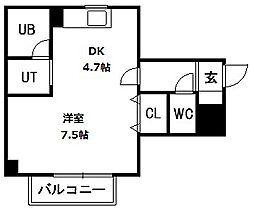 アルコン南郷9[1階]の間取り