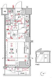 JR京浜東北・根岸線 王子駅 徒歩4分の賃貸マンション 6階1Kの間取り