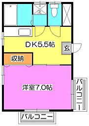 コーポ三和[3階]の間取り