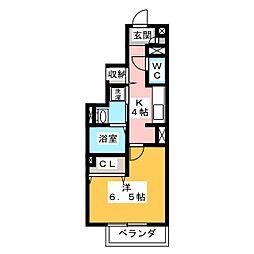 仮称 D−room御幸町[1階]の間取り