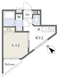 京急空港線 糀谷駅 徒歩2分の賃貸マンション 5階1Kの間取り