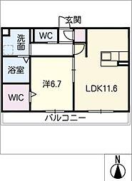仮)D-room大垣市今宿 2階1SLDKの間取り