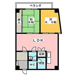 シンエーハイツ千種[8階]の間取り