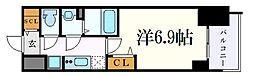 名古屋市営名城線 東別院駅 徒歩3分の賃貸マンション 11階1Kの間取り