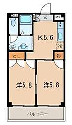 ファミール岡本[2階]の間取り