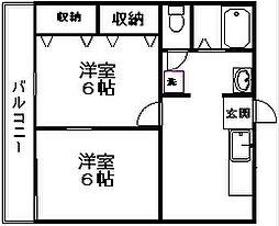 青山ハイツ[3階]の間取り
