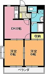 エクスバル・ドエル[3階]の間取り