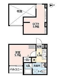 kohimariyu田島[2階]の間取り