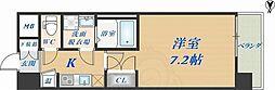 CASSIA高井田SouthCourt 6階1Kの間取り