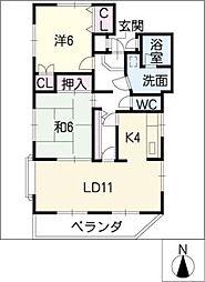 マイネハイム[1階]の間取り