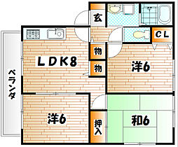 ウィンディアNINATA A棟[1階]の間取り