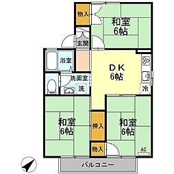 パークサイド吉敷B棟[2階]の間取り