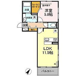 D-room東光寺[2階]の間取り