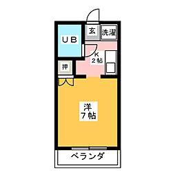 愛知県名古屋市昭和区明月町1丁目の賃貸アパートの間取り